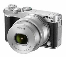 New Nikon 1 J5 Mirrorless Digital Camera with 10-30mm Lens - Silver