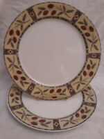 "SET OF 2 SANGO 3018 MESA PATTERN 10-3/4"" DINNER PLATES NEW WITH TAGS"