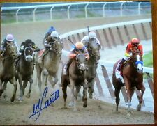 Justify signed Belmont Stakes Mike Smith autograph 8x10