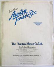 AUSTIN Twelve-Six 1931 Pub No 814 Original Car Sales Brochure