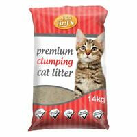 14kg Bag Premium Clumping Cat Kitty Litter Natural Fragrance Free Antibacterial