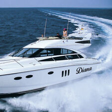 2 adesivi sticker nome barca personalizzato scritte numeri targa in vinile a0086