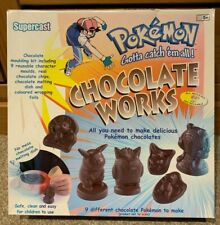 Rare - Pokemon Chocolate Works - Complete With All Moulds, Instructions