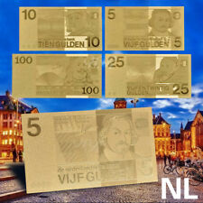 WR Netherlands 5/10/25/100 Gulden Gold Banknote Set 4pcs Money Gift Collection