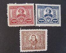 """POLONIA,POLAND,POLSKA 1923 """"  Copernico e Konarski """"  3V.Cpl. set Mint no gum"""