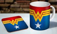 Wonder Woman Awesome 11oz Tea / Coffee Mug Coaster Gift Set