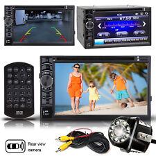 "6.2"" 2DIN Car Stereo DVD CD Player Bluetooth Radio No GPS Navi + Rearview Camera"
