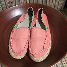 WOMENS SIZE 9 SANUK FLAT Coral SIDEWALK SURFERS LOAFERS SHOES