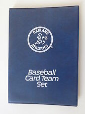 "Oakland Athletics Baseball Card Team Set Binder 6"" x 8"" Holds up to 64 Cards"