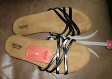Mossimo Black Wedge Flip Flop Sandals Women's Size 6  Strappy Slip On NWT