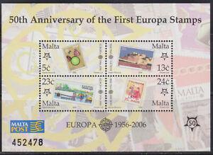 Slowenien  bl. - Europa CEPT 2006 (50. Anniv. 1956 - 2006), MNH