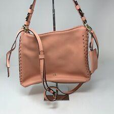Henri Bendel Pebbled Leather Whipstitch Crossbody Shoulder Bag Purse Tote