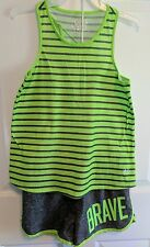 Justice Pre-Owned Matching Short & Tank Top Outfit Size 10