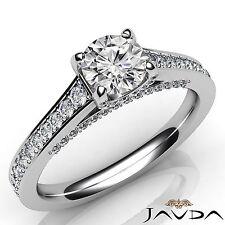 Round Diamond Fascinating Engagement Pre-Set Ring GIA F VVS2 Platinum 950 1.46Ct
