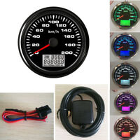 85mm GPS Speedometer Gauge 200 KM/H Odometer For Boat Car Truck Motorcycle ATV