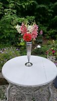 Vintage Art Deco Reed and Barton Silver Plated Vase 12 inches