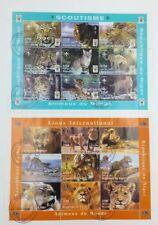 Sellos Hojas Bloque Temática Felinos Animales Del Mundo Leones Pack
