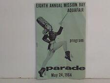 """Eighth Annual Mission Bay Aquafair Parade"" 1964 Program - San Diego CALIFORNIA"