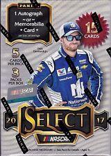 2017 Select Racing sealed Blaster box 3 packs of 5 NASCAR cards 1 hit