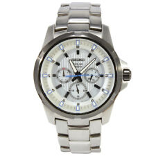 Seiko Criteria SNE113 P1 Silver White Dial Solar Men's Analog Watch