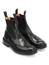 Trickers Henry Black Leather Brogue Chelsea boots Sz Uk 9.5 Us 10.5 eu 43.5
