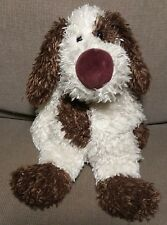"Jellycat Brown Tag Dog Sitting 9"" Bunglie Malcolm mutt puppy plush"