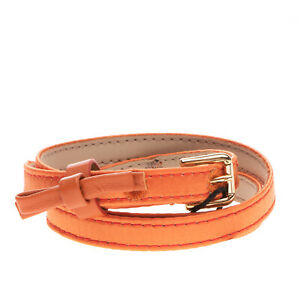 RRP €195 DOLCE & GABBANA Silk & Leather Belt Size S / 57 Skinny Made in Italy
