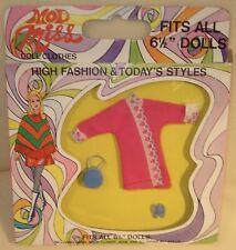 """Nrfb Mod Miss Fashion Fits 61/2"""" Dolls (Dawn & Pippa dolls) pink robe set"""