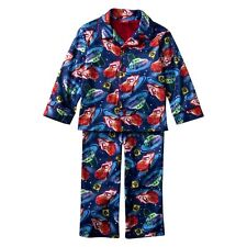 Disney PIXAR Cars Flame Resistant Boy's 2PC Blue PJ Sleepwear Pajama Set 2T NWT