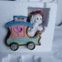 Dreamsicles FOOTLOOSE Caboose 2000 Cast Art  Train Cherub Angel Figurine Box