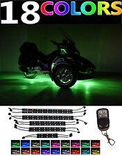 10pc Can-Am Spyder F3-S F3-T RS-S RT-S Led Neon Accent Motorcycle Lights Kit
