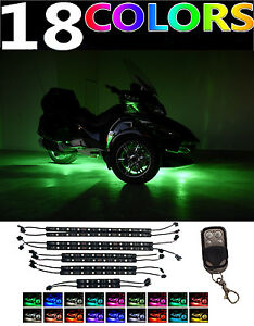 10pc Can-Am Spyder F3-S F3-T RS-S RT-S Led Neon Accent Motorcycle Lights Kit