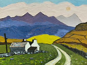Welsh Art Oil Painting - Kyffin Williams influence