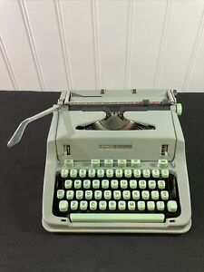 60's Vintage HERMES 3000 Typewriter with Case, Brushes, Manual and Key #3393013