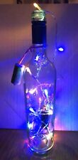 13� Clear Lighted Bottle Lamp With Timer Lights.