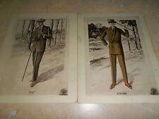 mode lot de 2 planches de mode masculin / homme  ( ref 12 )