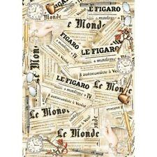 Papier de découpage Journal Le Monde DFG312 50x70 cm Decoupage Paper Newspaper