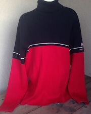 Ralph Lauren Polo Jeans Company Mens Turtleneck XL Australia Cotton Red Black