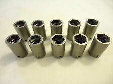 "Impact Sockets, 10 Pieces, 1/4"" Drive,10mm 6 Point, Shallow, Hanson, USA, New"