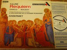 SDD 154 Faure Requiem/Souzay/Danco/Ansermet/Osr