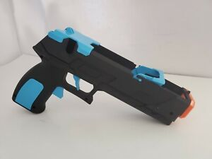 "NEW ""STICKY"" Black & Blue Quick Shot Plus light Gun Dual Trigger for Wii/Wii U"