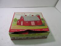Vintage Bachmann Plasticville USA Red Dairy Barn #1622 O & S Gauge Scale tr1358