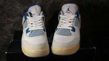 Nike Air Jordan IV 4 Retro GS WHITE MILITARY BLUE GREY 408452-105 SIZE 5Y NIB