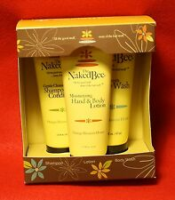 Naked Bee 1 Orange Blossom Honey Bath & Body Gift Set Lotion Shampoo Body Wash