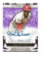 2019 TOPPS DIAMOND ICONS BOB GIBSON PURPLE PARALLEL AUTOGRAPH #9/10 (CARDINALS)