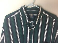 Salmon River Traders Striped Green Casual/ Dress Shirt Size 2XL