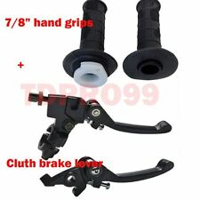 "FOLDABLE CLUTCH BRAKE LEVER + Hand grips DIRT PIT BIKE 110 125CC 7/8"" Handlebar"