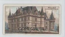 1916 Wills Gems of French Architecture Tobacco Base #6 Azay-le-Rideau Card 1x2