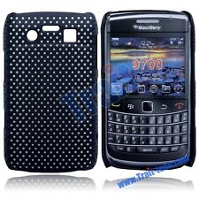 CUSTODIA COVER MESH CASE per BLACKBERRY CURVE 9700 9780 RIGIDA NERO GUSCIO HARD