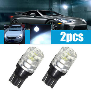 2x T10 W5W 194 168 White LED Car Side Lamp Wedge Bulbs Tail Light Super Bright